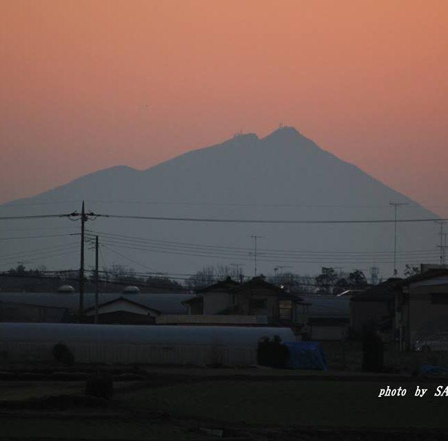 今朝の筑波山 2015.1.20
