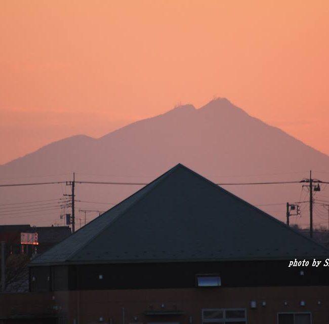今朝の筑波山 2015.1.25