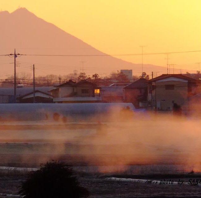 今朝の筑波山 2015.2.4