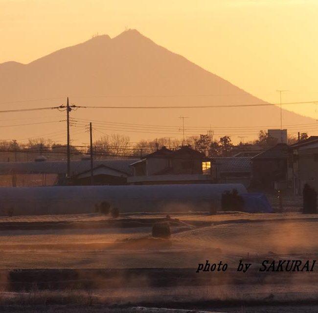 今朝の筑波山 2015.2.7