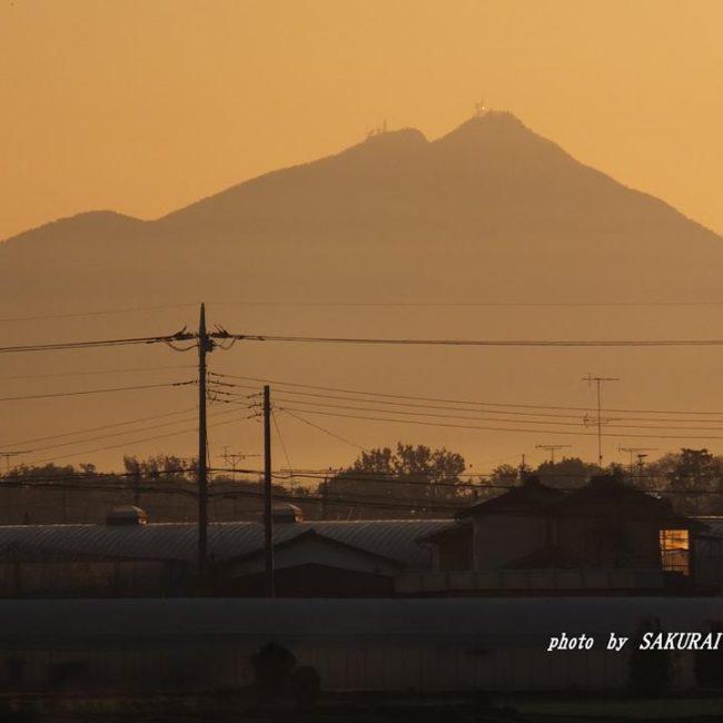 今朝の筑波山 2014.11.23