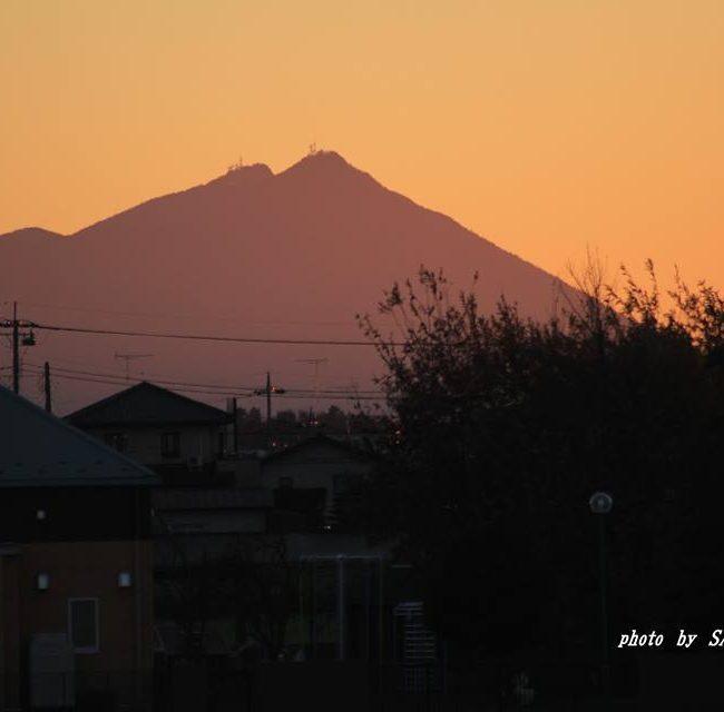 今朝の筑波山 2014.12.3