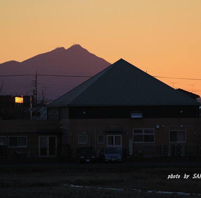 今朝の筑波山 2014.12.18