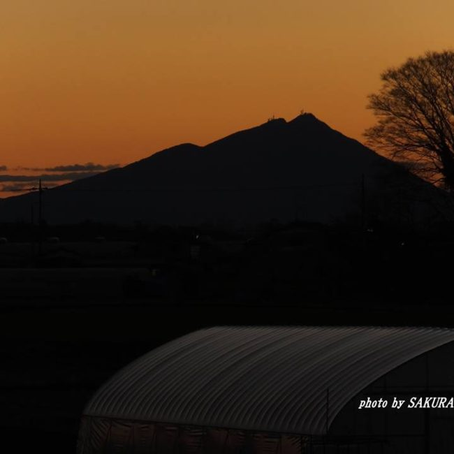 今朝の筑波山 2015.1.1