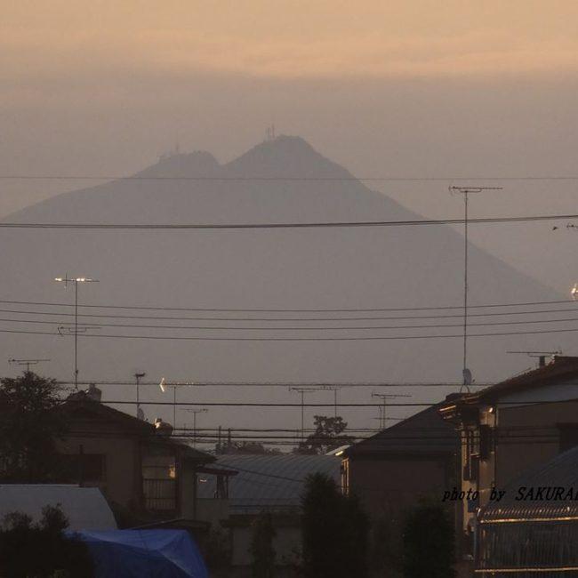 今朝の筑波山 2014.9.13