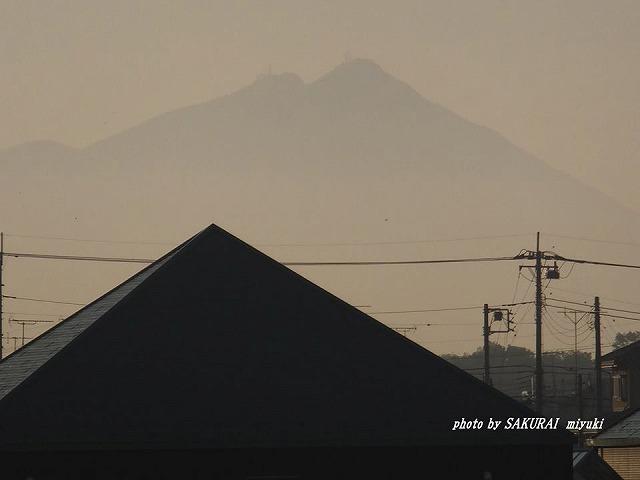 今朝の筑波山